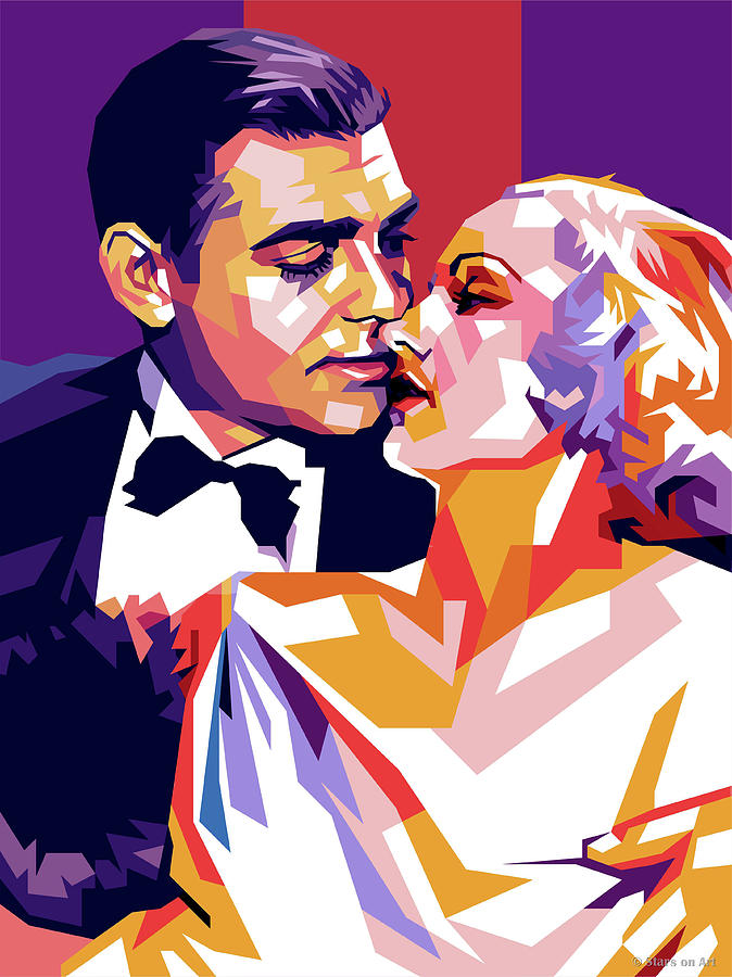 Clark Gable and Carole Lombard by Stars on Art