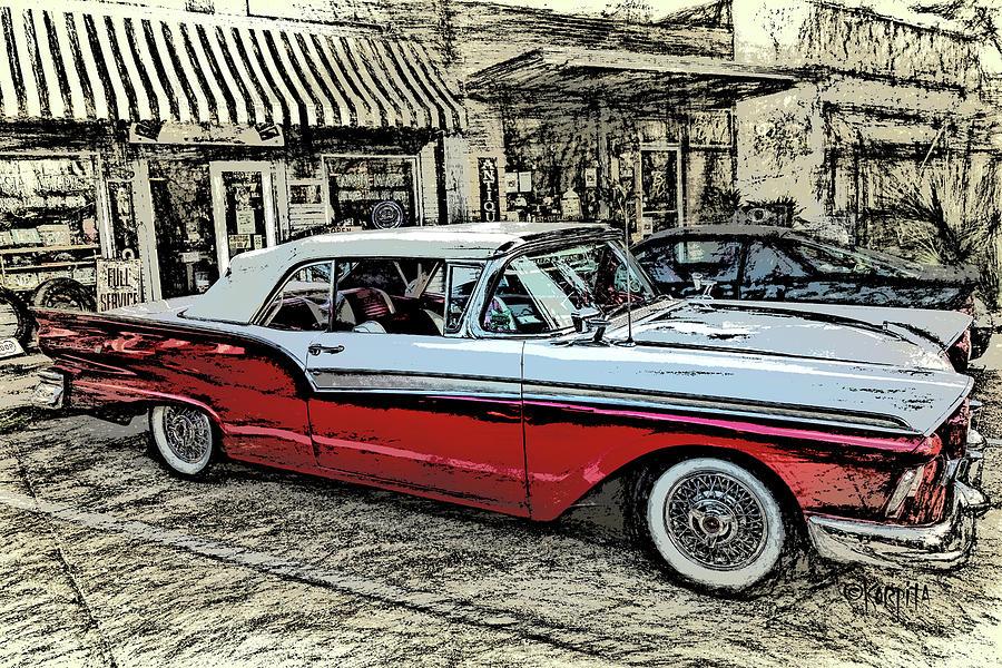 Classic 57 Ford Fairlane by Rebecca Korpita