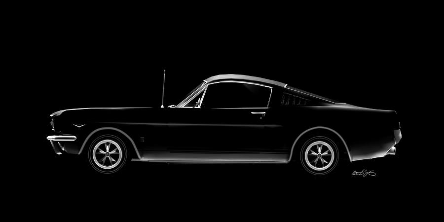 Classic 66 Mustang Fastback L by Peter J Sucy