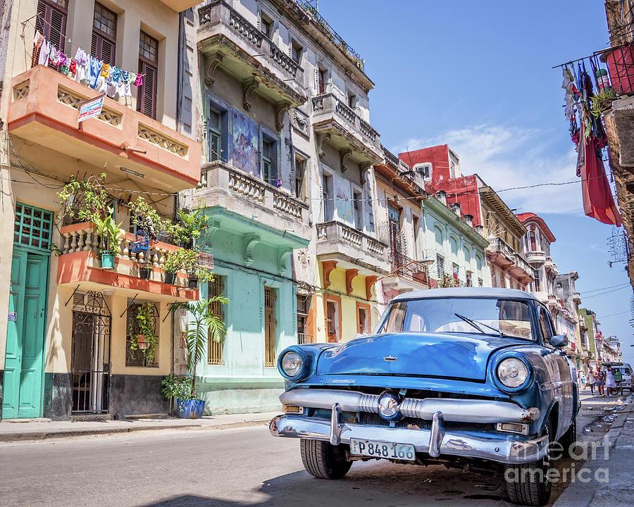 Cuba Photograph - Classic Car Havana 8x10 by Delphimages Photo Creations