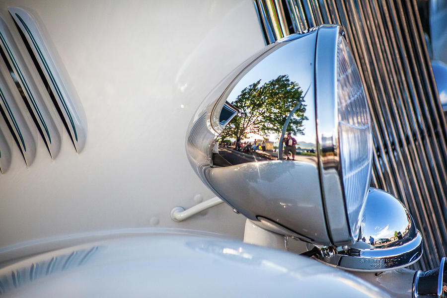 Classic Car Headlight by Jeanette Fellows