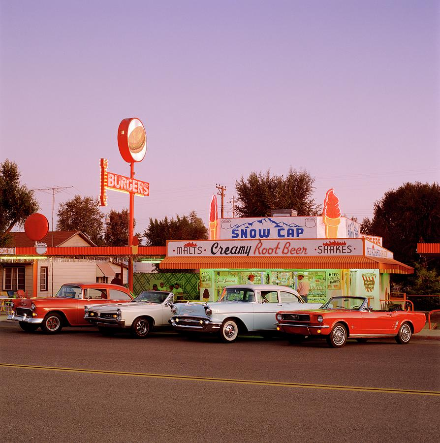 Classic Cars At Delgadillo Snow Cap In Photograph by Car Culture
