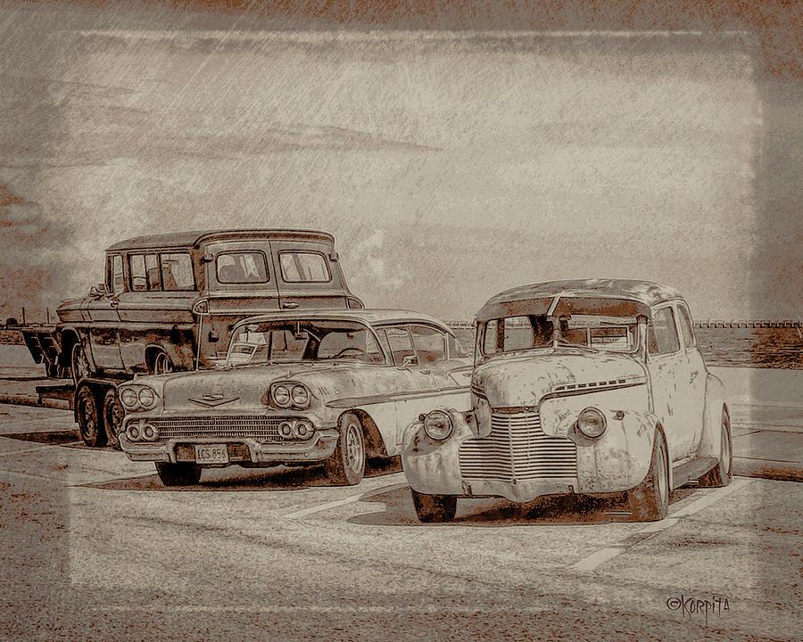 Classic Cars - Cruising the Coast by Rebecca Korpita