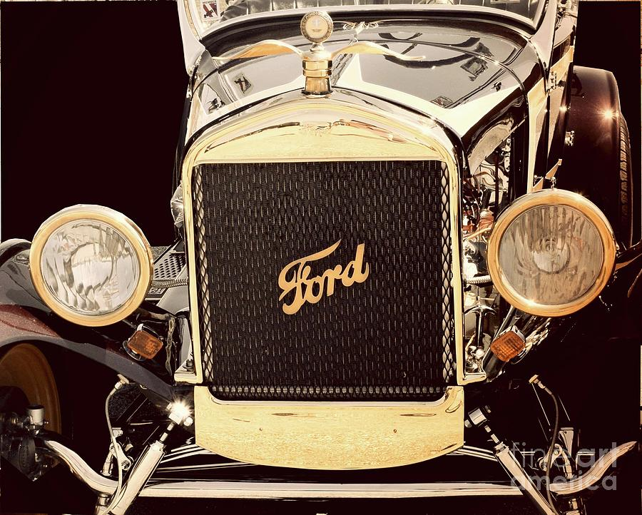 Classic Photograph - Classic Ford Car by Suzanne Wilkinson