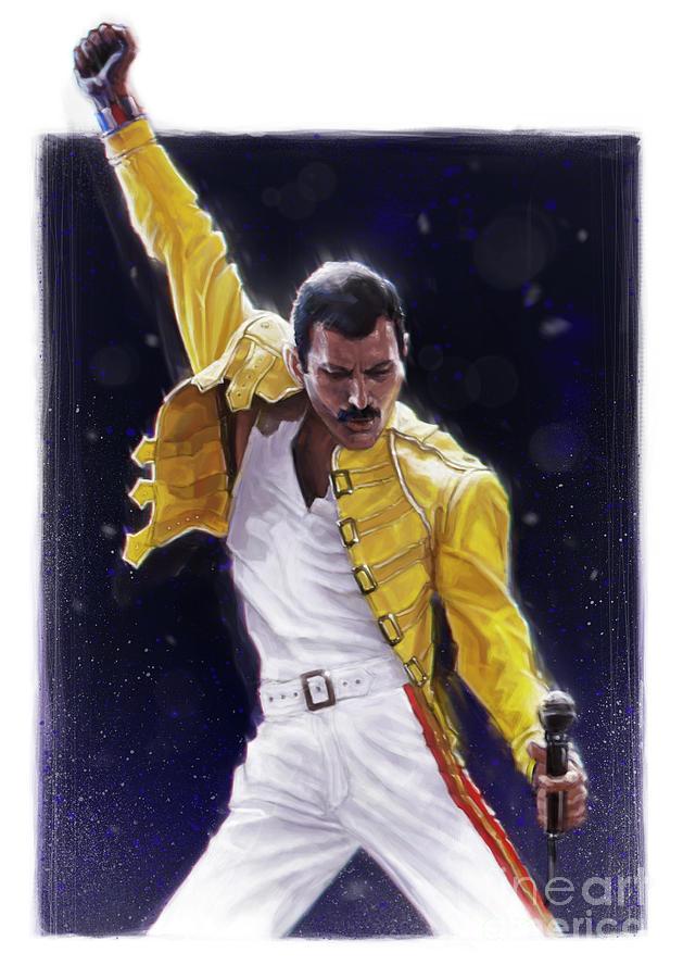 Freddie Mercury Digital Art - Classic Freddie by Andre Koekemoer