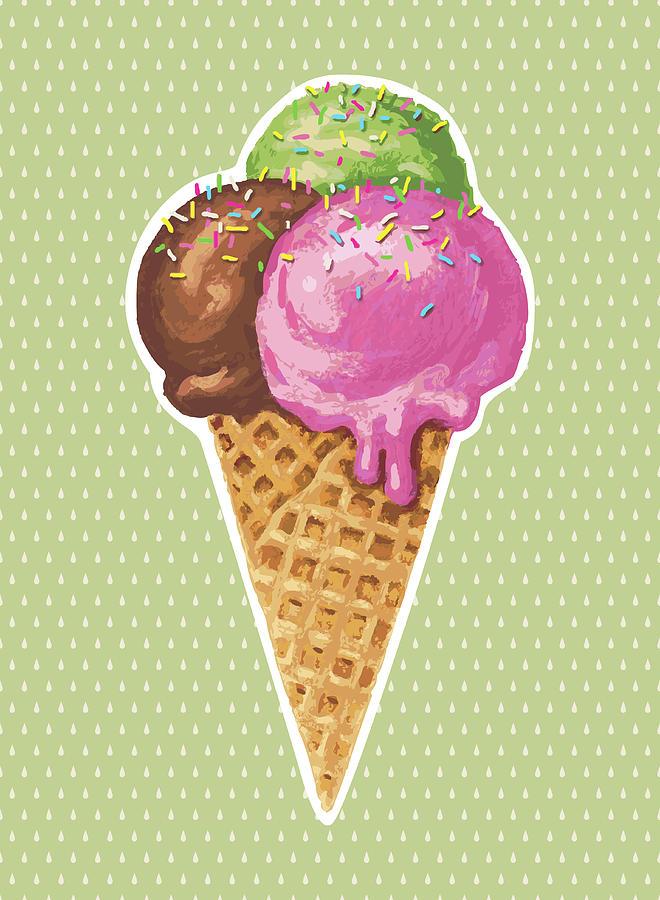 Classic Ice Cream Digital Art by Marabird