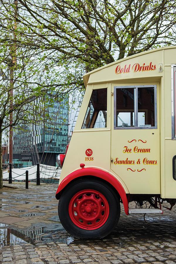 Classic ice-cream van at the Liverpool Docks by IORDANIS PALLIKARAS