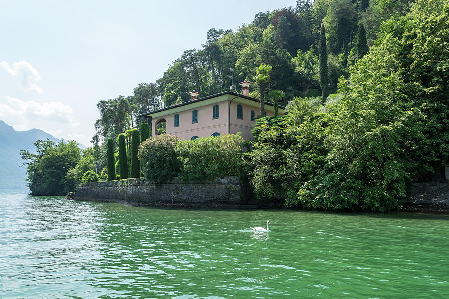 Classic Idyll - Pink Villa at Punta Spartivento Bellagio Lake Como Lombardy Italy by Georgia Mizuleva
