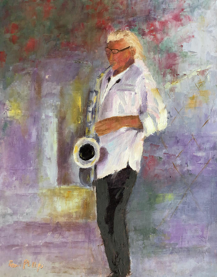 Classic Jazz Painting by Rosie Phillips