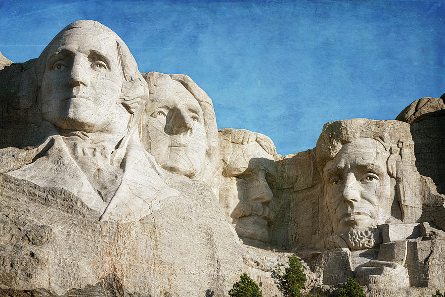 Classic Mount Rushmore by Joan Carroll