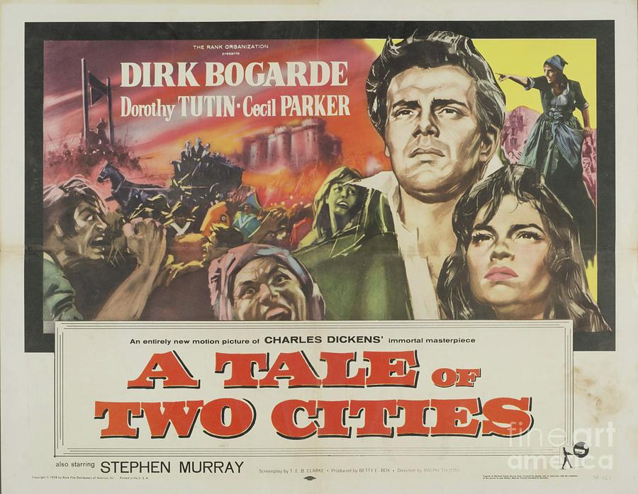 Classic Movie Poster - A Tale Of Two Cities Painting by Esoterica ...