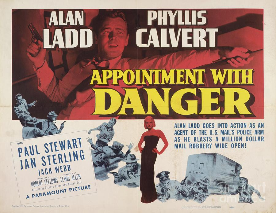 Classic Movie Poster - Appointment With Danger Painting by ...