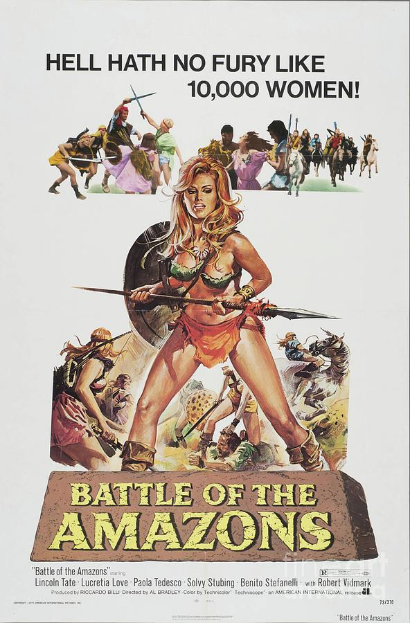 Battle Painting - Classic Movie Poster - Battle Of The Amazons by Esoterica Art Agency