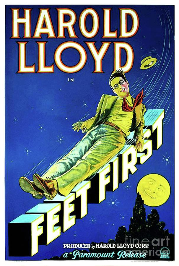 Classic Movie Poster - Feet First Painting