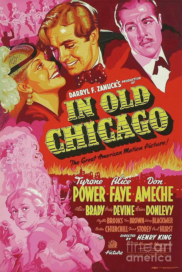 Chicago Painting - Classic Movie Poster - In Old Chicago by Esoterica Art Agency
