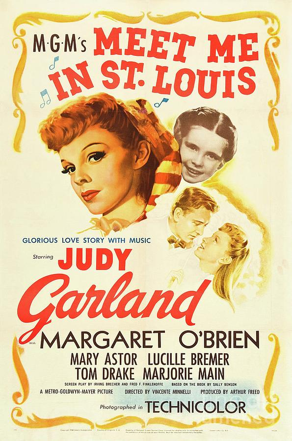 Judy Painting - Classic Movie Poster - Meet Me In St. Louis by Esoterica Art Agency