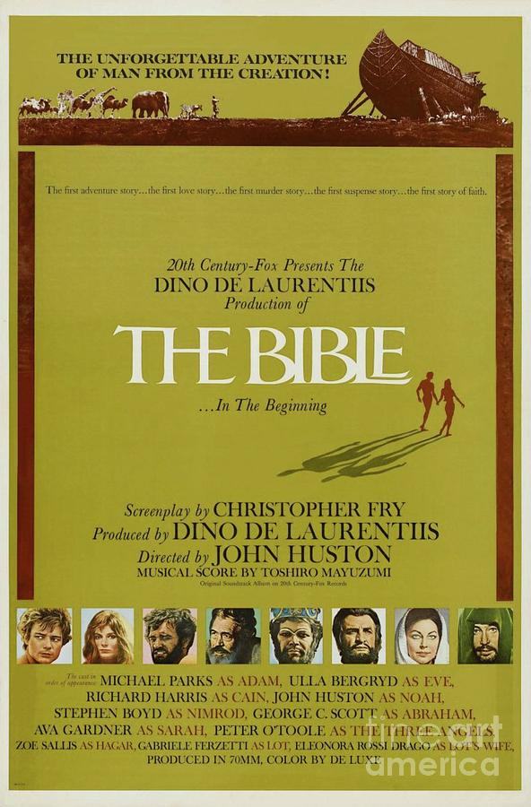 Classic Movie Poster - The Bible Painting