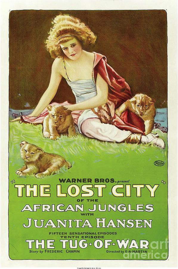 Classic Movie Poster - The Lost City Painting