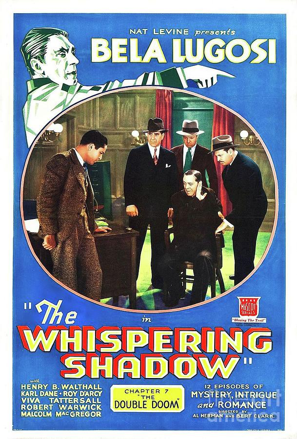 Classic Movie Poster - The Whispering Shaow Painting