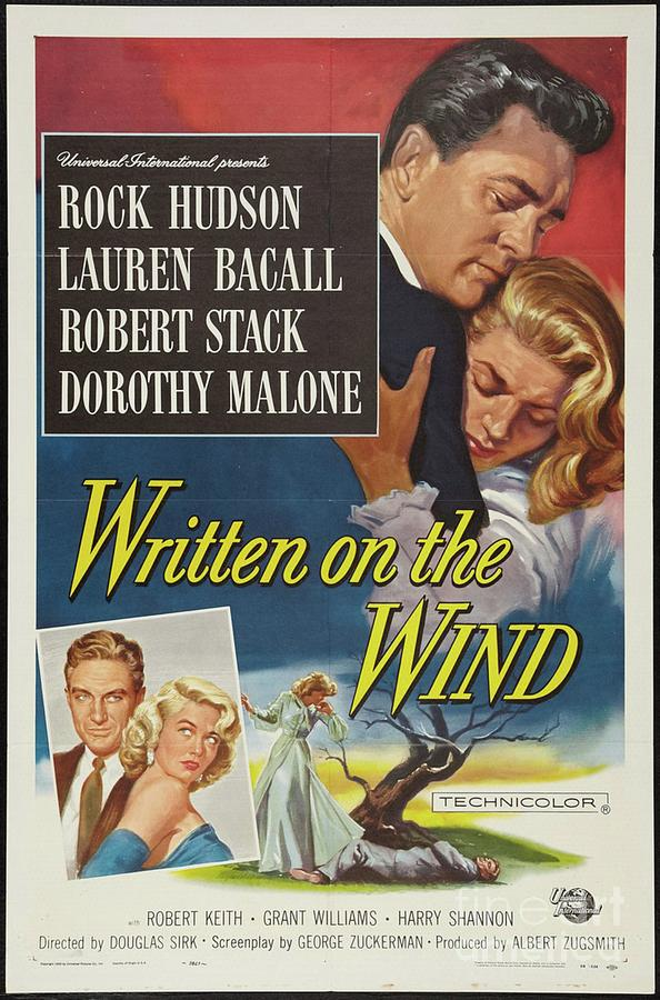 Rock Painting - Classic Movie Poster - Written On The Wind by Esoterica Art Agency