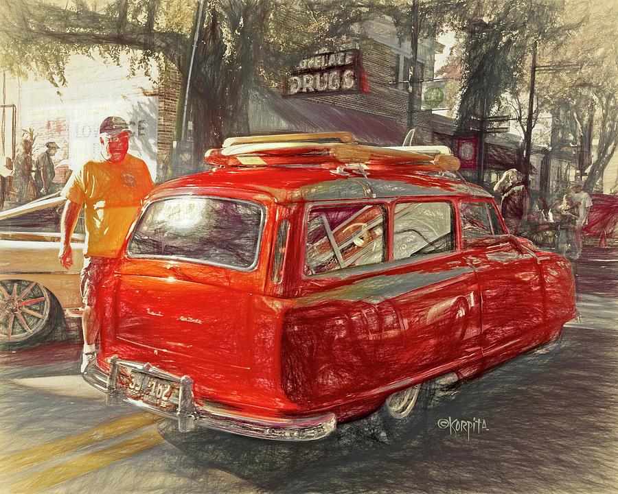Classic Nash Airflyte Wagon - Cruisin the Coast by Rebecca Korpita
