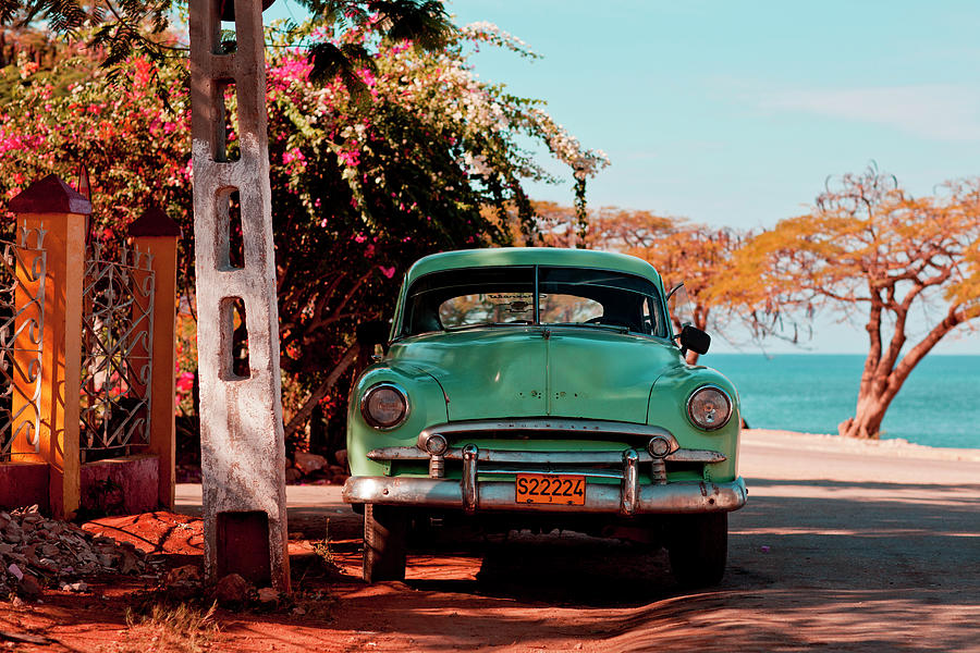 Classic Oldtimer Car At Beach Road Photograph by Merten Snijders