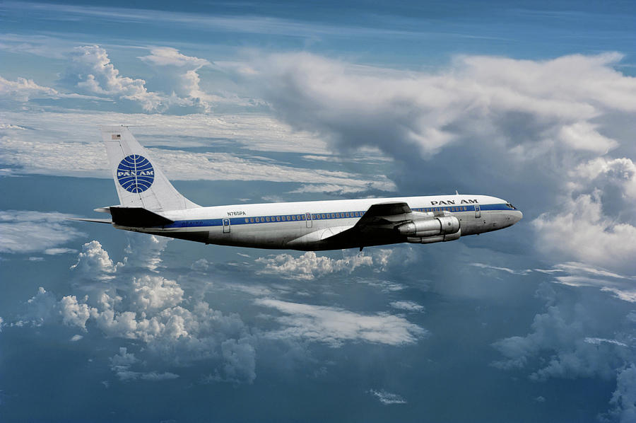 Pan American World Airways Mixed Media - Classic Pan Am Boeing 707 Clipper Gladiator by Erik Simonsen