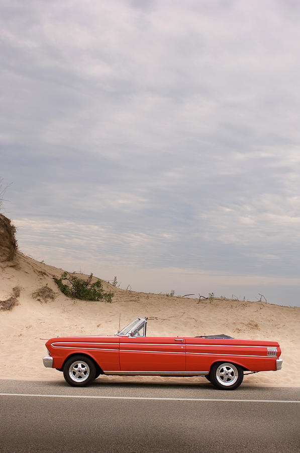 Classic Red Convertible In The Desert - Photograph by Bradwieland