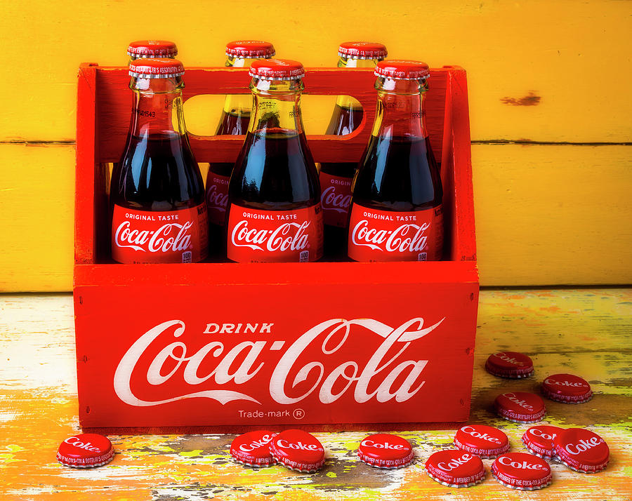 Six Photograph - Classic Six Pack Of Cokes by Garry Gay