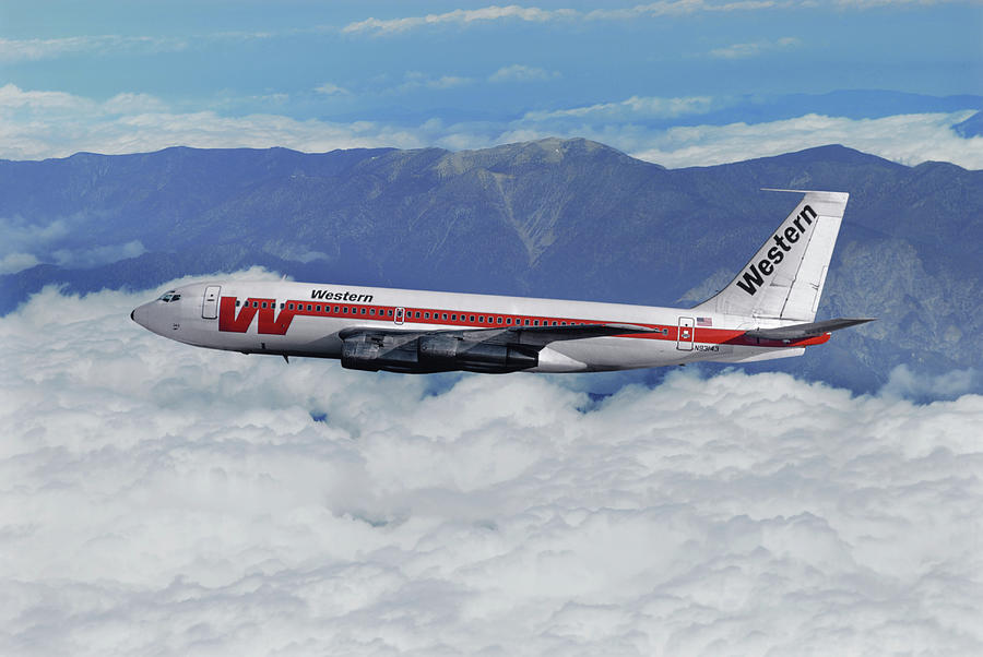 Western Airlines Mixed Media - Classic Western Airlines by Erik Simonsen