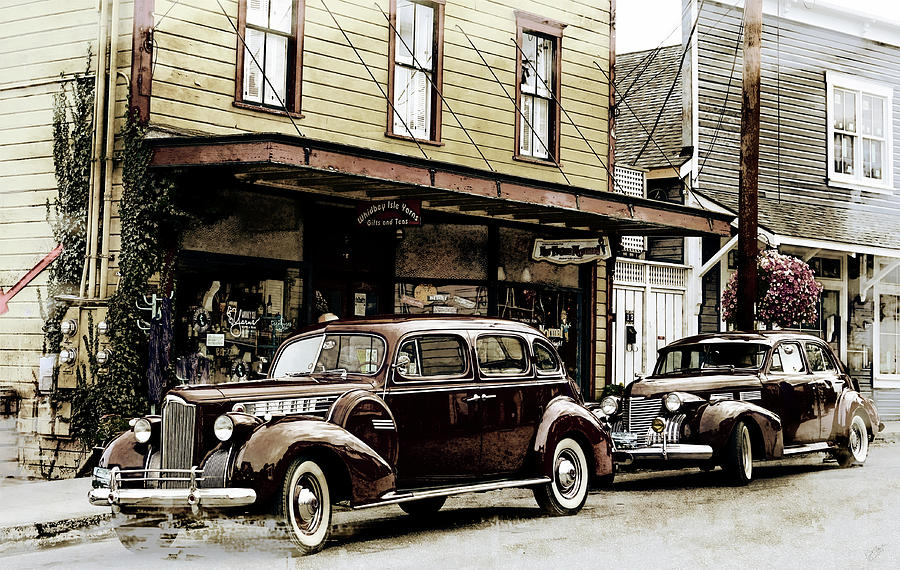 Classic Cars Photograph - Classics on Front Street by Rick Lawler