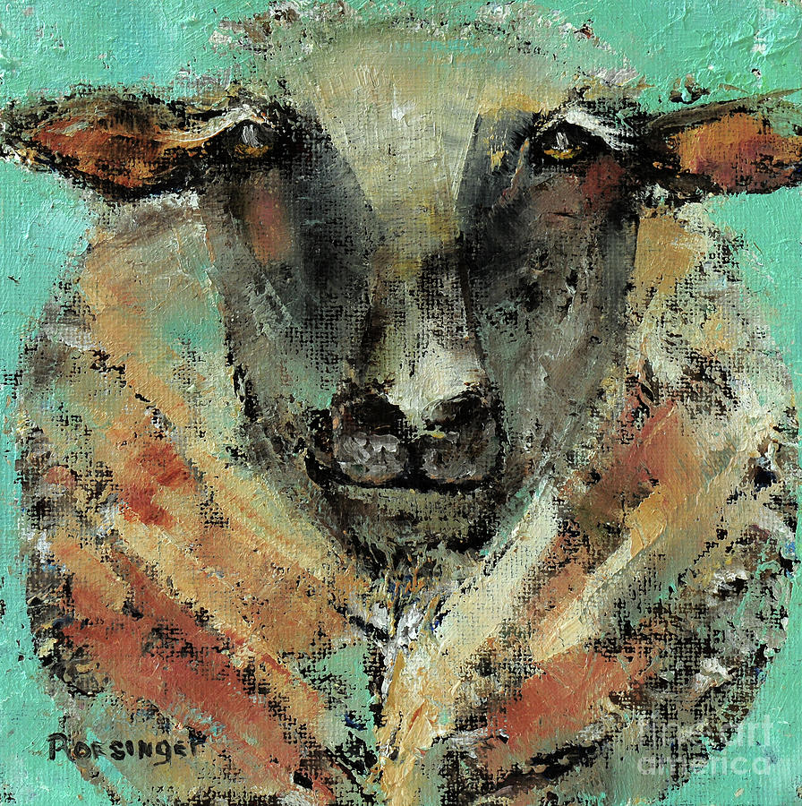Sheep Painting - Claude by Paint Box Studio