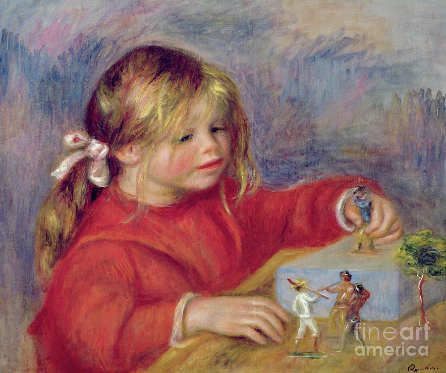 Toy Painting - Claude Renoir At Play by Pierre Auguste Renoir