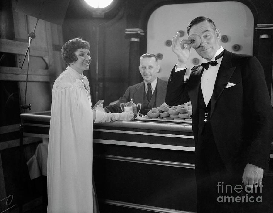 Claudette Colbert And Walter Huston Photograph by Bettmann