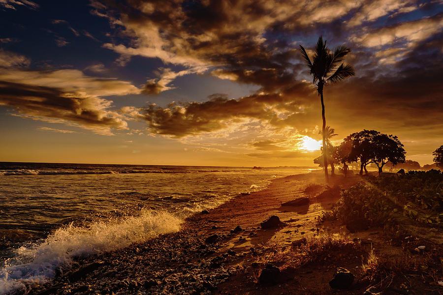 Clean Beach Sunset by John Bauer