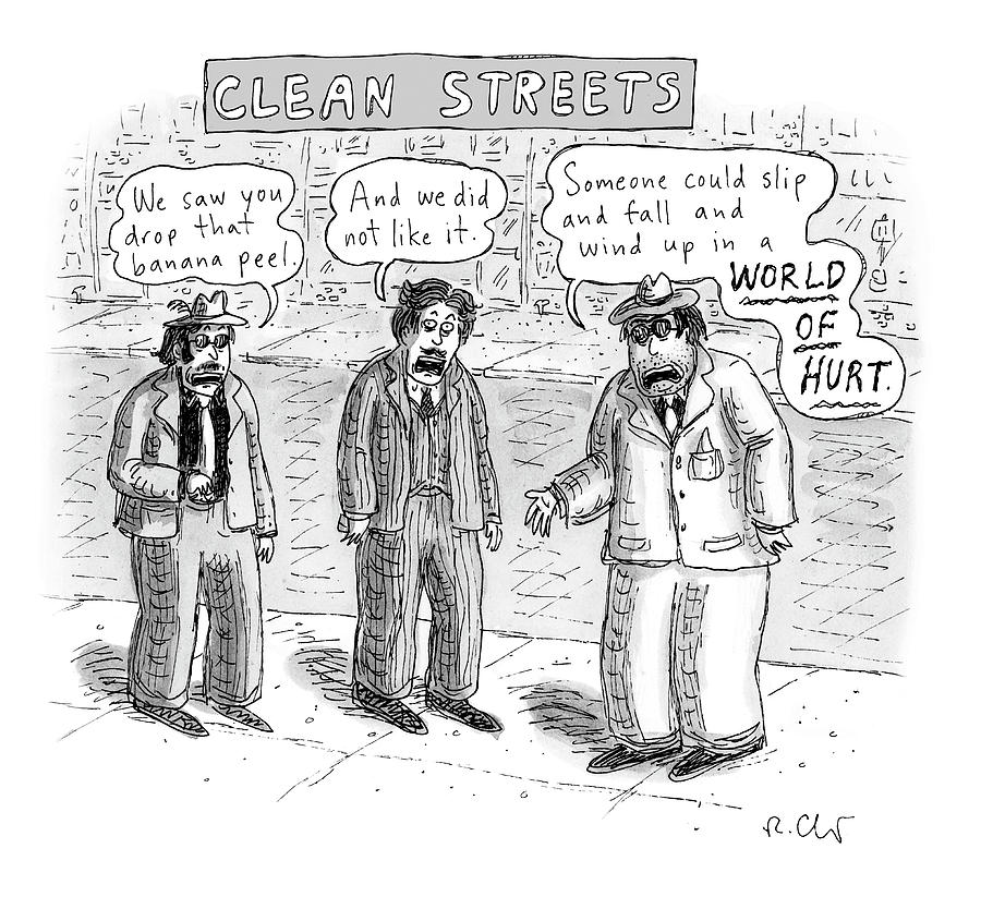 Clean Streets Drawing by Roz Chast