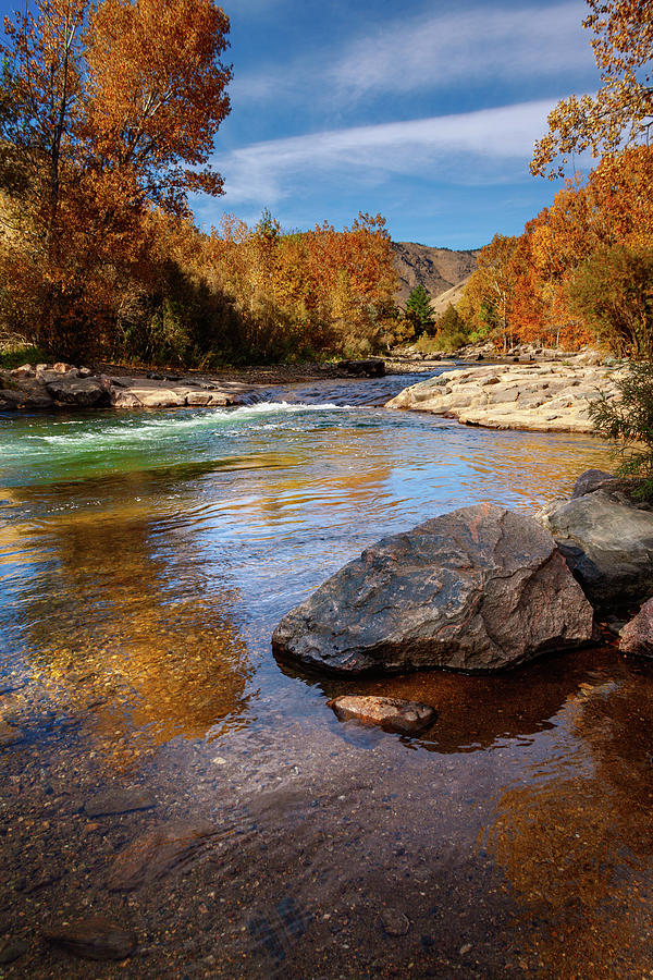 Clear Creek In Autumn by Jeanette Fellows