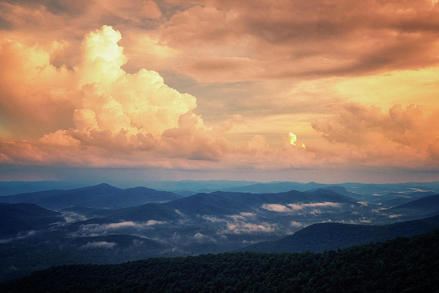 Clearing Storm at Sunset in the Blue Ridge Mtns NCGRK4619_06172019 by Greg Kluempers