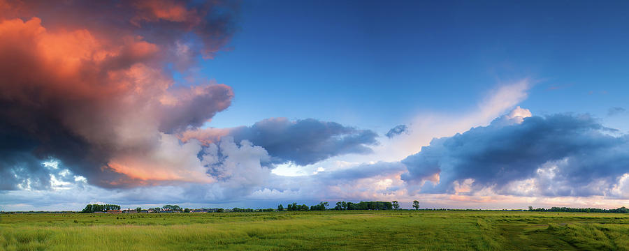 France Photograph - Clearing Storm Clouds At Sunset by Andrew Soundarajan