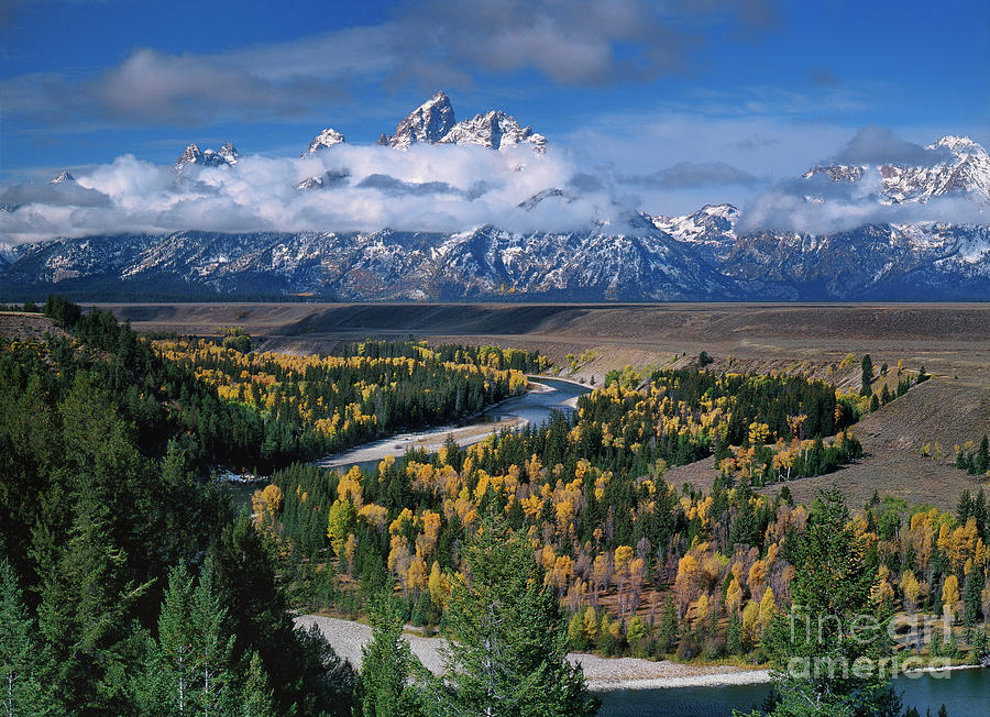clearing storm snake river overlook grand tetons national park wyoming by Dave Welling