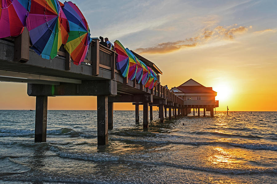 Clearwater Florida Sunset at the Pier FL by Toby McGuire