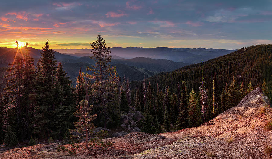 Clearwater National Forest Sunrise by Leland D Howard