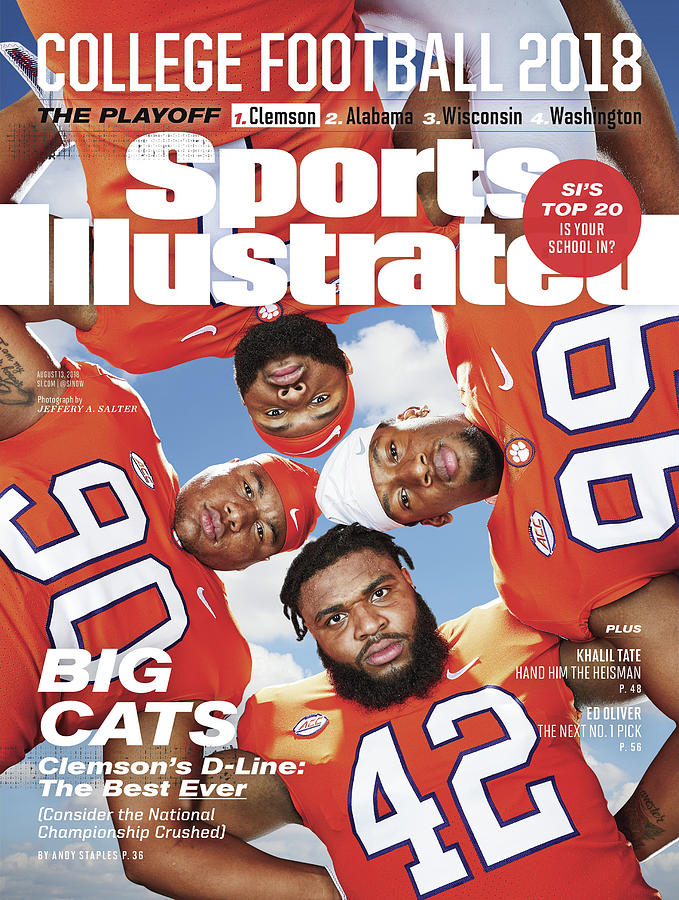 Clemson University Defensive Line, 2018 College Football Sports Illustrated Cover Photograph by Sports Illustrated