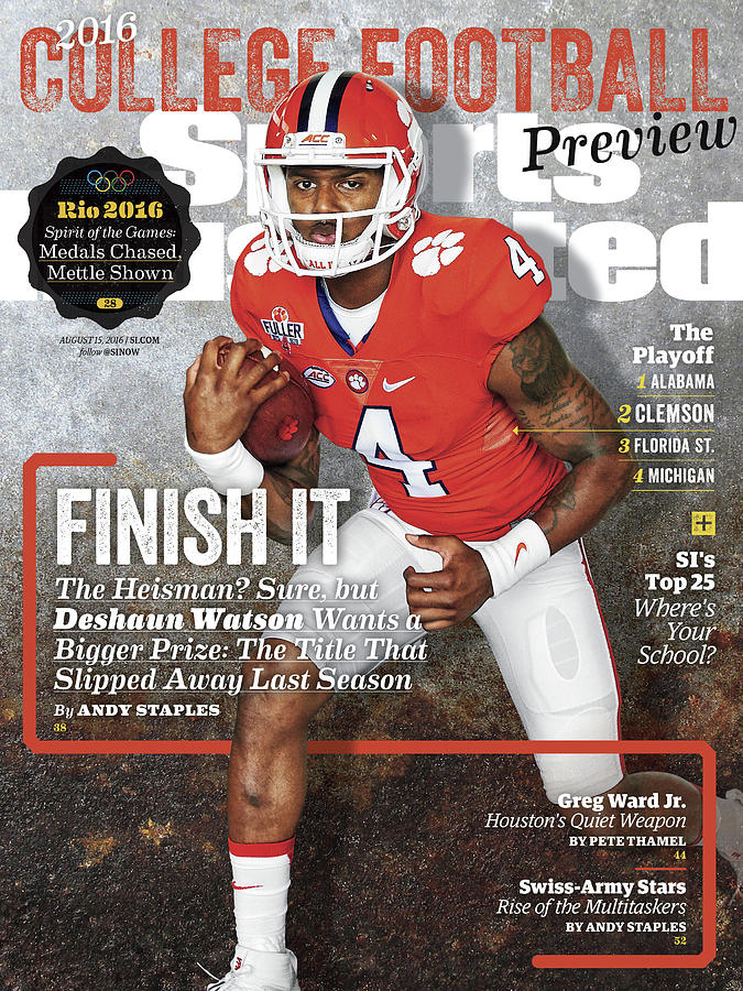 Clemson University Deshaun Watson, 2016 College Football Sports Illustrated Cover Photograph by Sports Illustrated