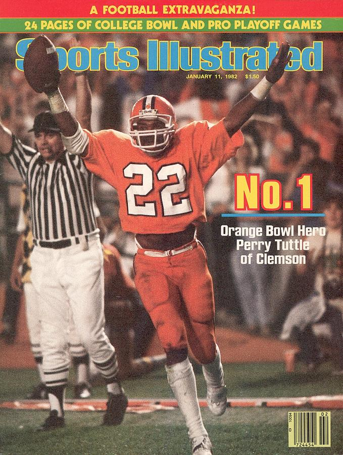 Clemson University Perry Tuttle, 1982 Orange Bowl Sports Illustrated Cover Photograph by Sports Illustrated
