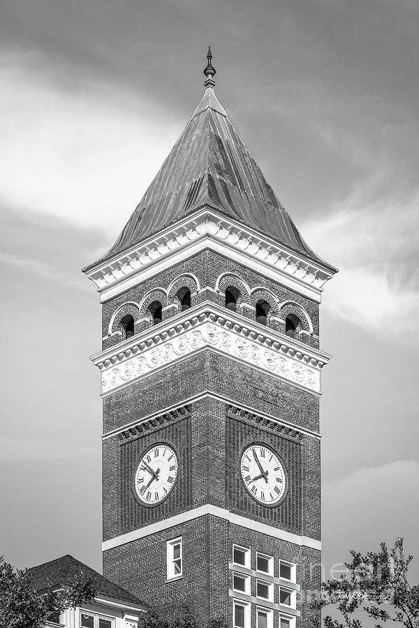 Clemson University Tillman Hall Tower by University Icons