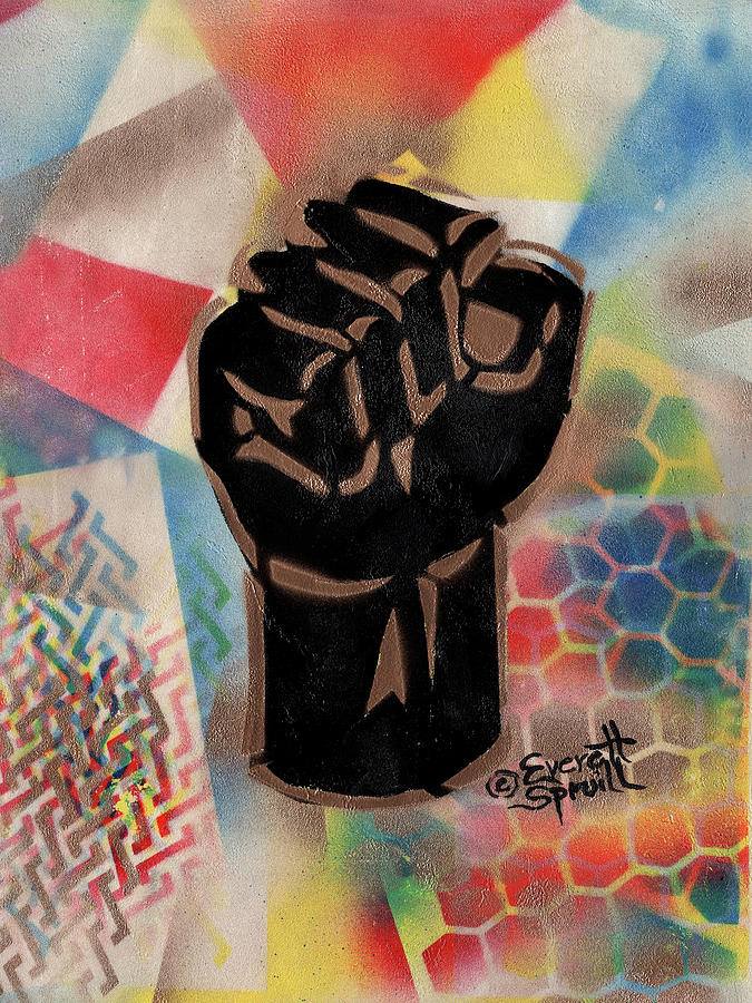 Clenched Fist - B by Everett Spruill