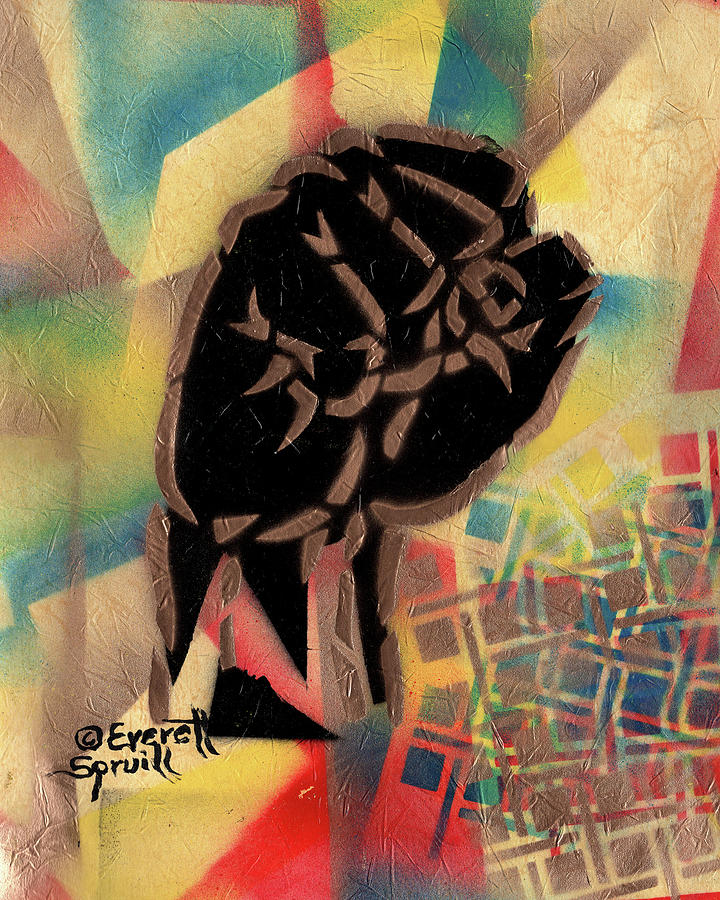 Clenched fist - F by Everett Spruill