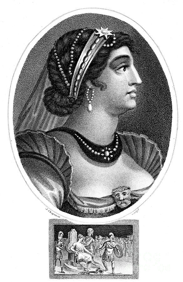 Cleopatra, Queen Of Egypt, 1804.artist Drawing by Print Collector