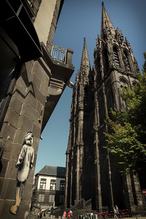 Clermont-Ferrand Cathedral and poster art by RicardMN Photography
